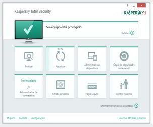 Interfaz Total Security Kaspersky