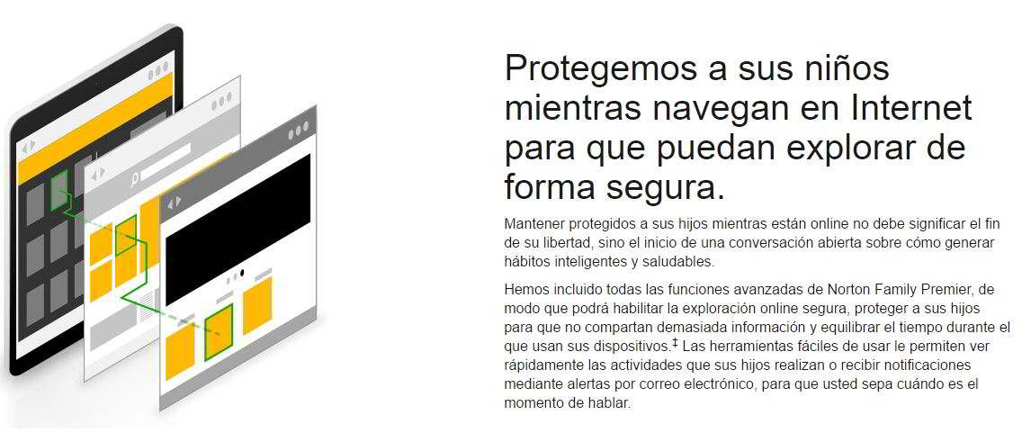 Protección Parental Antivirus Norton